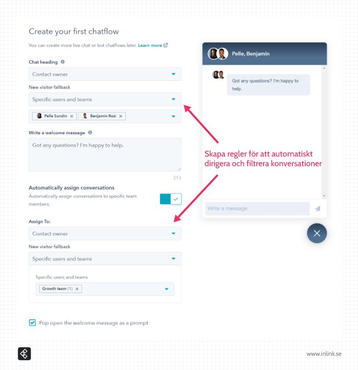 hubspot-chat-filter-team-personer